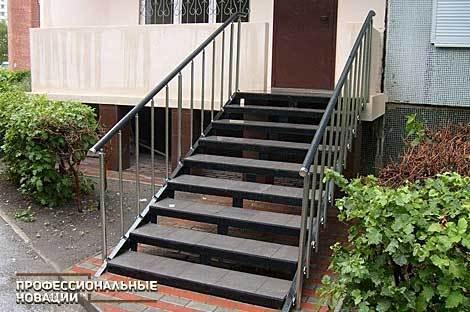 Лестница с крыльцом из металла